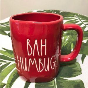 Rae Dunn Red Bah Humbug! Mug